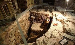Restos del abside románico de la Iglesia de Yuso