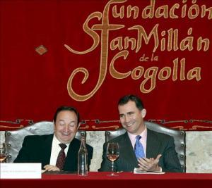 Acto de la fundación san Millán con la presencia del Príncipe de Asturias y el Presidente de La Rioja