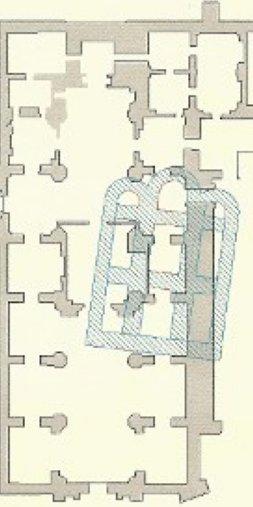 Posible planta del monasterio románico de Yuso