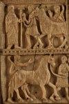 Planca de marfil. Arca relicario de San Millán. Monasterio de Yuso