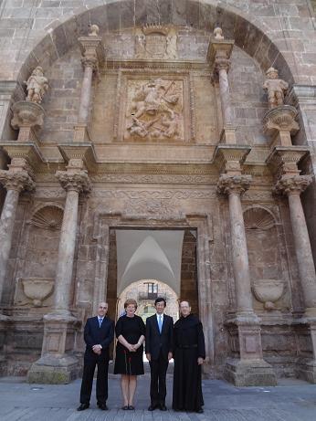 Visita del Embajador de Japón al monasterio